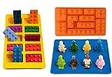 Silikon Gelee-Formen und Eiswürfel-Tabletts–Bausteine und Roboter-Figuren–Perfekt für Süßigkeiten, Schokolade und Bonbons von Lucentee