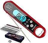 Blusmart Digital Fleischthermometer Instant Read Grillthermometer Küchenthermometer, IPX7 Wasserdicht und LCD Bildschirm, Bratenthermometer Haushalts