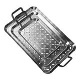Grill & more Essentials Grillkorb, Grillblech 3er Set, edelstahl