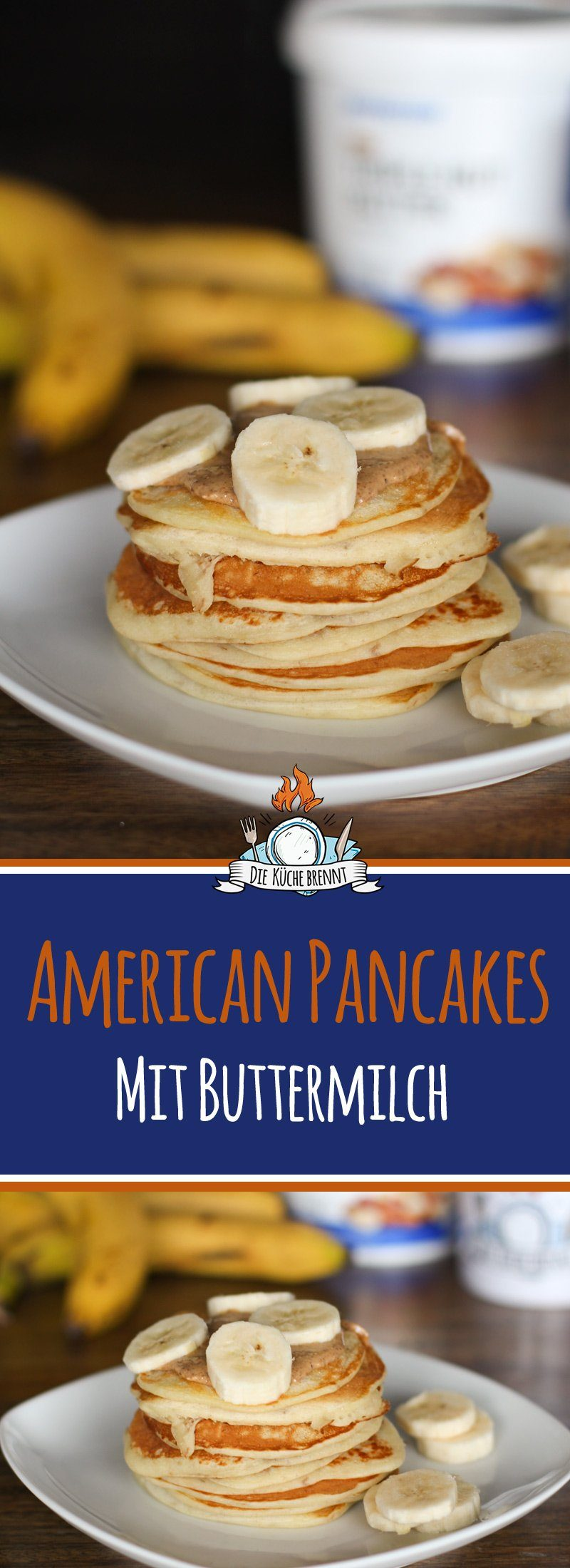 american pancakes rezept mit buttermilch. Black Bedroom Furniture Sets. Home Design Ideas
