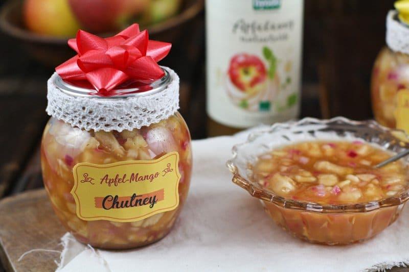 Apfel Mango Chutney Mit Byodo Apfelessig Diy Geschenk Aus Der