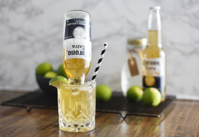 Frozen Margarita Corona Drink - Upside down Corona