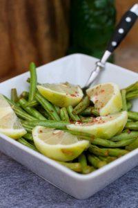 Grüne Bohnen mit Zitronenöl vom Grill ala Weber´s Grill Bibel