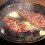 Gusseiserne Pfanne Steak