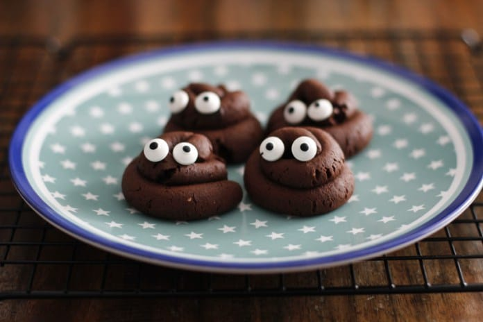 Halloween Kekse in Häufchen Form