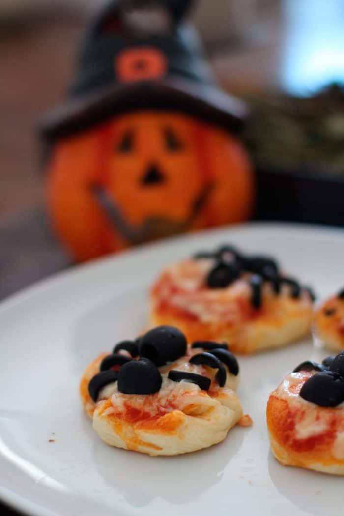 Halloween Snack Spider Pizza Mini Pizzen Die Küche Brennt