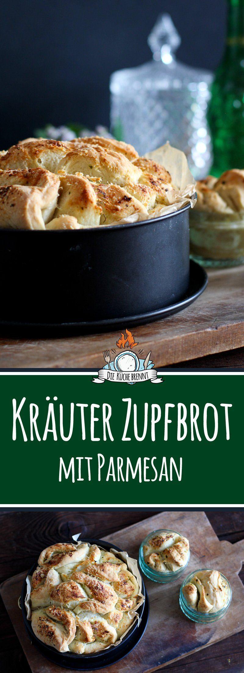 Kräuter Zupfbrot / Faltenbrot in der Springform