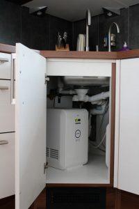 Küchenschrank von innen