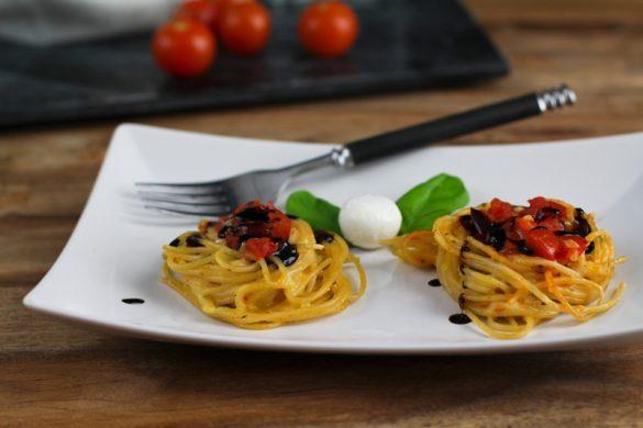 Spaghetti Nester Tomate Mozzarella