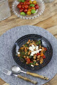 Rezept mit Spinat, Feta und Tomaten
