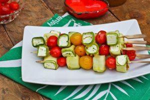 Gemüse Spieße Grillen - Zucchini Feta Tomaten