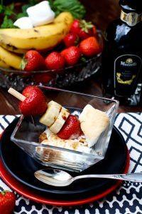 Erdbeer Bananen Marshmallow Spieß mit Mazzetti l'originale