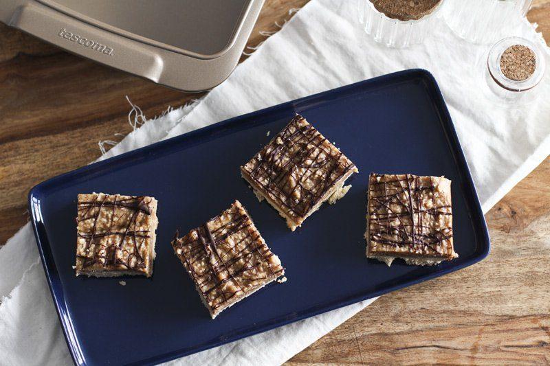 Samoa Schnitten Einfacher Glutenfreier Kuchen Mit Mandelmehl Und