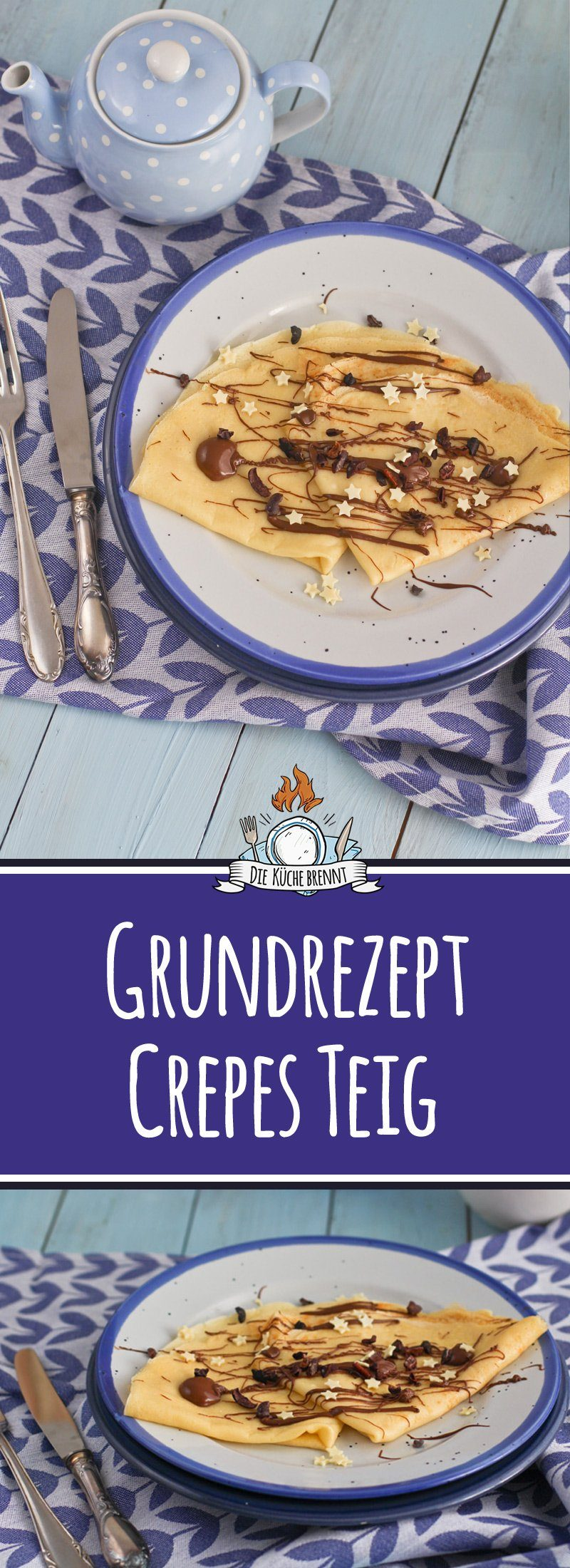 Crêpes Teig Rezept - Einfaches Grundrezept