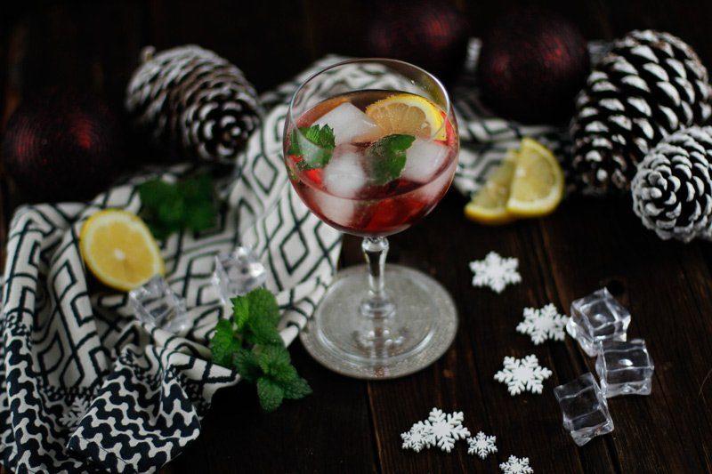 Drink für Weihnachten - Granatapfel Spritz Cocktail