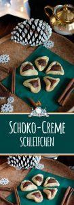 Plätzchen Backen - Schoko Creme Schleifchen