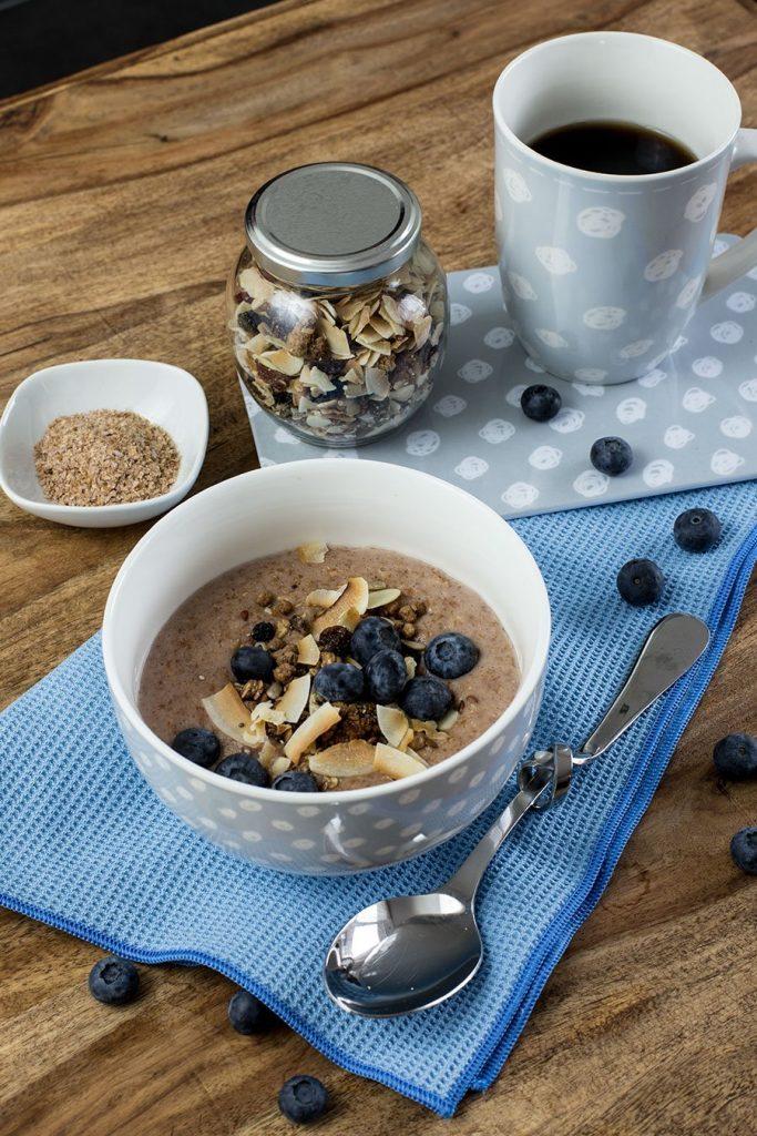Frühstücksbrei aus Weizenkleie – Warmes Frühstück