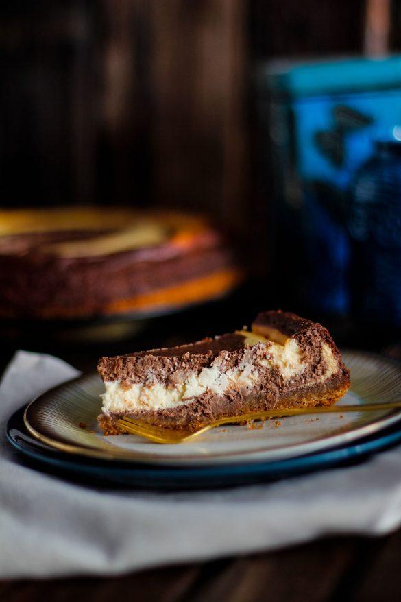 Schokoladen Käsekuchen Rezept - als Zebrakuchen