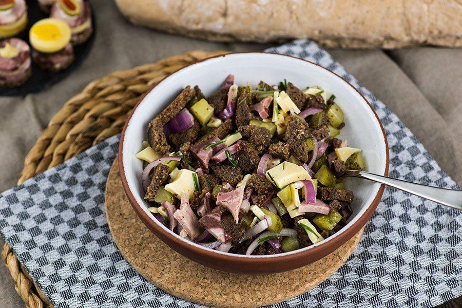 Brot Wurstsalat Resteverwertung