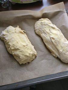 Baguettes in Form bringen