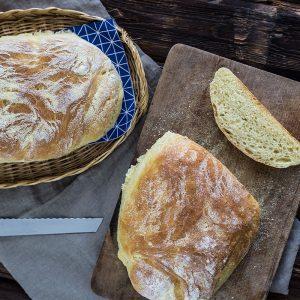 Backen mit Hartweizengrieß - Grieß Baguette Rezept