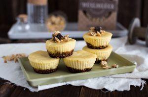 Käsekuchen Muffins Rezept mit Müsliboden von Müsliglück