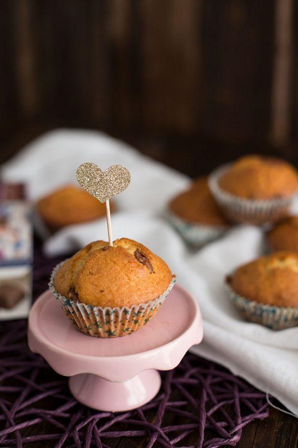 Muffins mit Schokolade - Joghurt-Heidelbeer-Müsli Schogetten