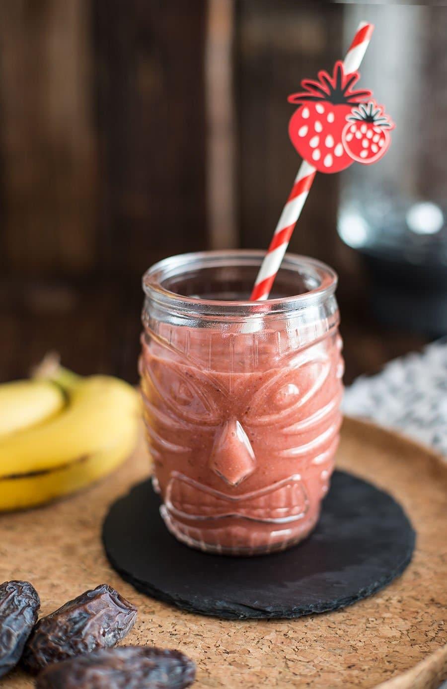 erdbeer bananen smoothie ohne joghurt
