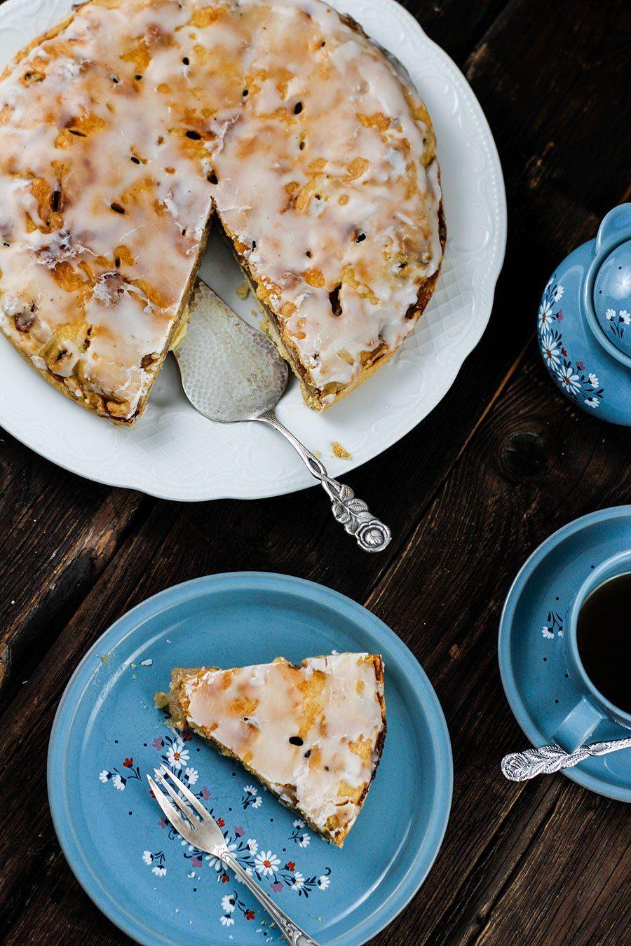 Danischer Apfelkuchen Rezept Backen Mit Apfeln Die Kuche Brennt