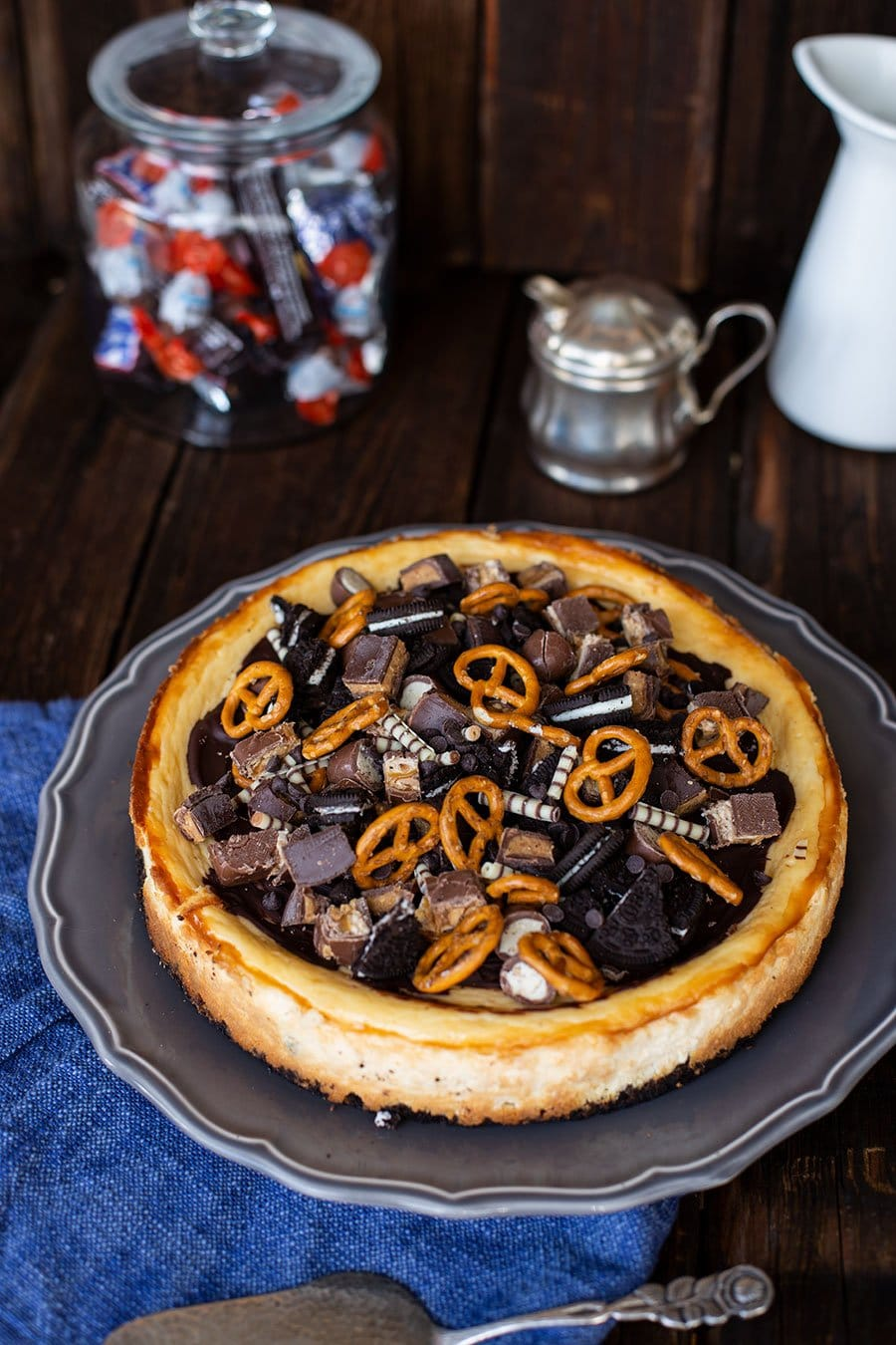 New York Cheesecake Rezept mit Oreo Keksboden & Karamell Topping