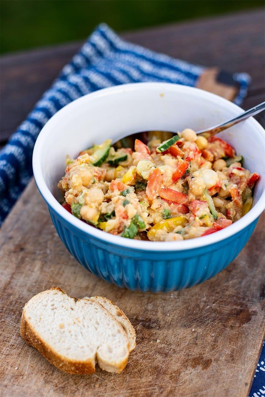 Orientalischer Kichererbsen Salat Rezept Zum Grillen Vegan