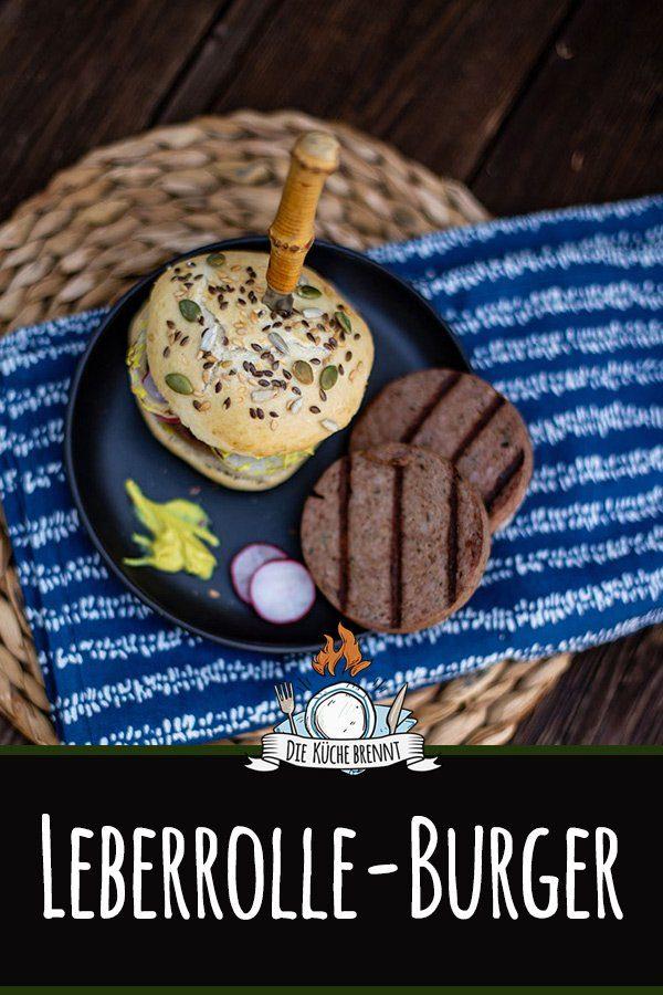 Gegrillte Leberrolle - Leberwurst grillen - der etwas andere Burger