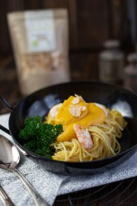 Kürbisrezepte Butternut - Pasta mit Butternut Kürbis Parmesan Soße