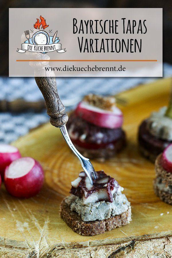 Bayrische Tapas Rezept - Brotzeitplatte mit bayrischem Fingerfood