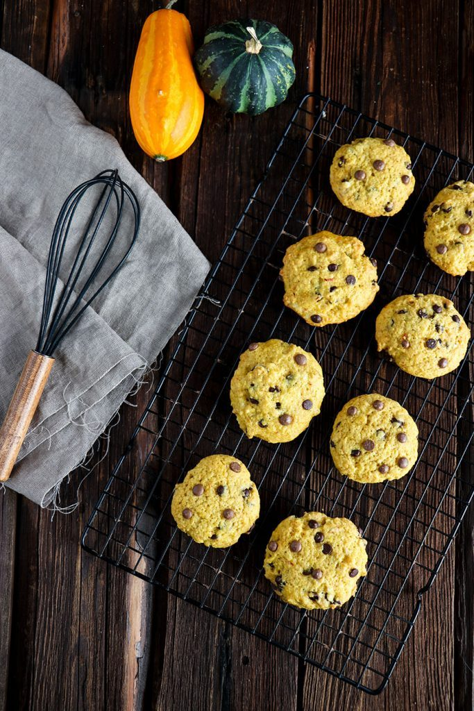 Kürbis Cookies Rezept mit Schokodrops