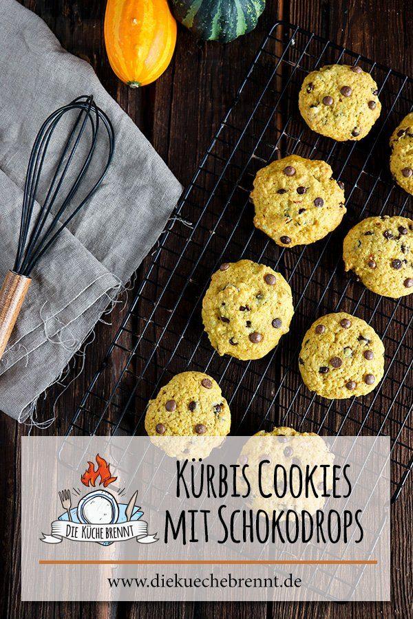 Idee für die Kürbiszeit: Kürbis Cookies Rezept mit Schokodrops