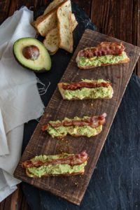 Fingerfood - Avocado Bacon Mini Baguettes