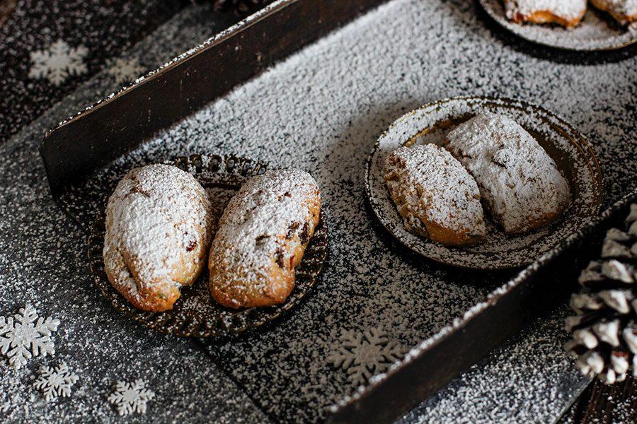 Mini Stollen Rezept aus der Weihnachtsbäckerei