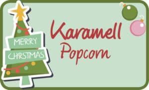 Popcorn Etikett