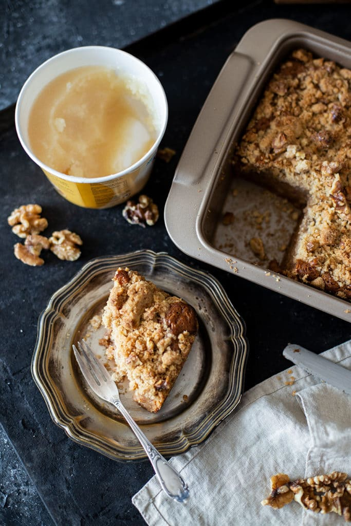 Bananen Kuchen – Einfaches Rezept mit Walnuss Streuseln
