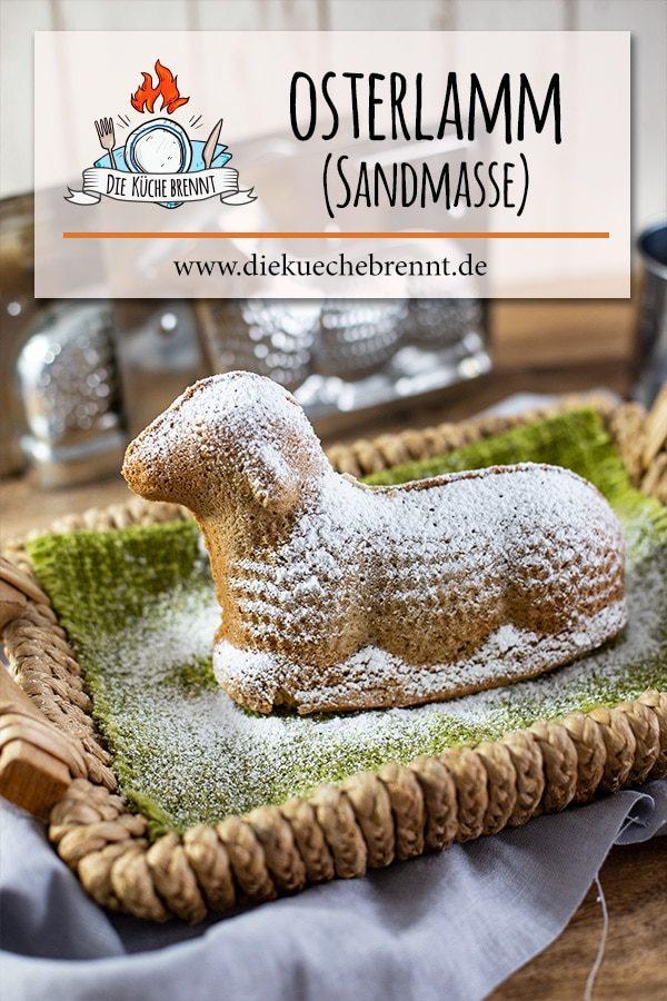 Süßes Oster Lamm Rezept (Sandmasse)