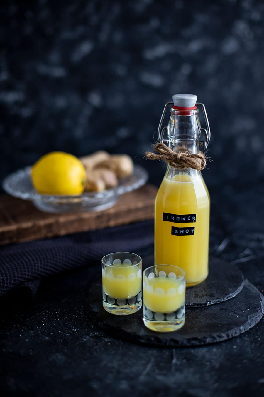 Ingwer Zitronen Shot Rezept mit Entsafter – Power Kick fürs Immunsystem