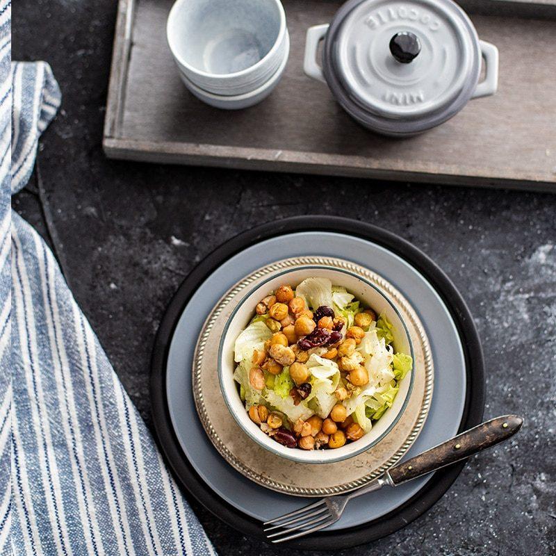 Airfryer Rezept: Knusper Salat Mit Kichererbsen Und
