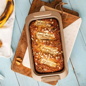Saftiges Bananenbrot Rezept mit Dinkelmehl und Walnüssen