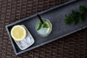 Zitrone Minze Prosecco