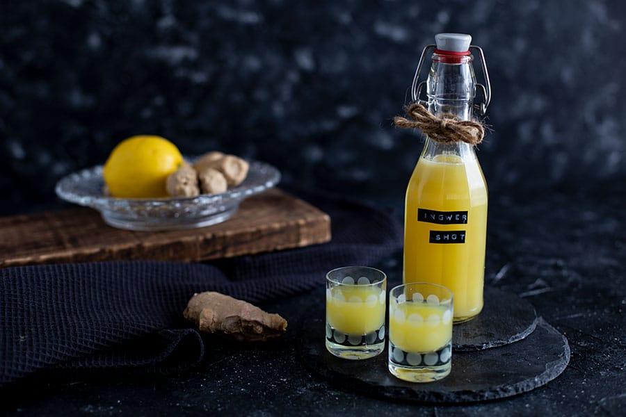Ingwer Zitronen Shot Rezept mit Entsafter