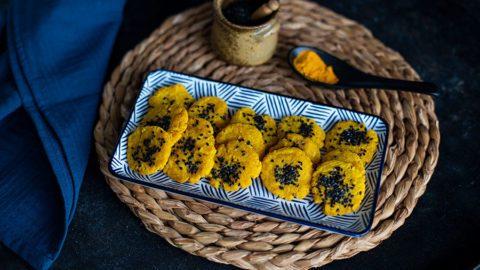 Kurkuma Parmesan Taler Rezept aus dem Backofen