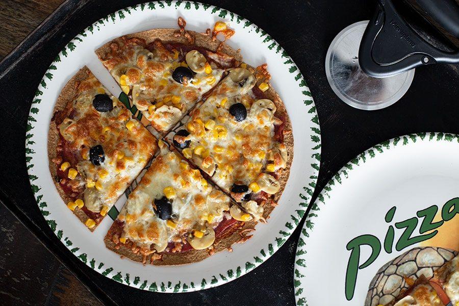 Leckere Schnell Wrap Pizza