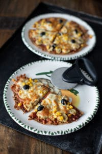Wrap Pizza mit wenig Kalorien