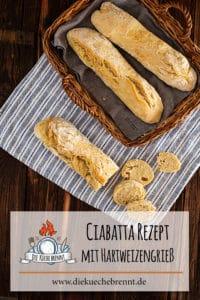 Lockeres Ciabatta Rezept mit Hartweizengrieß